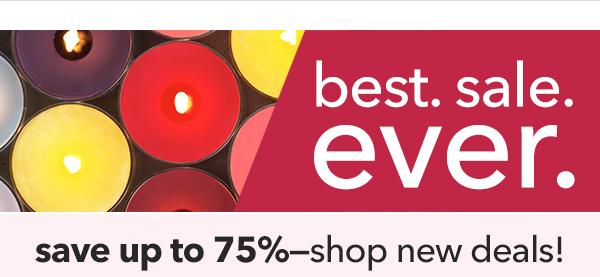 Save up to 75%â€â€shop new deals!