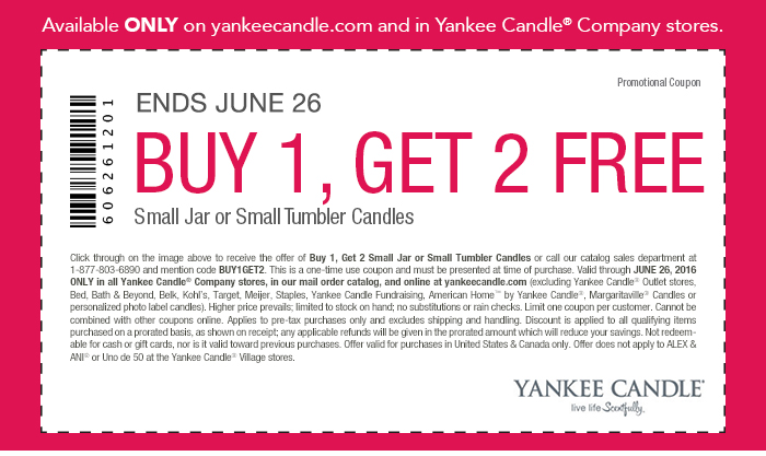 Yankee candle coupons printable 2019