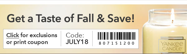 Get a Taste of Fall & Save!