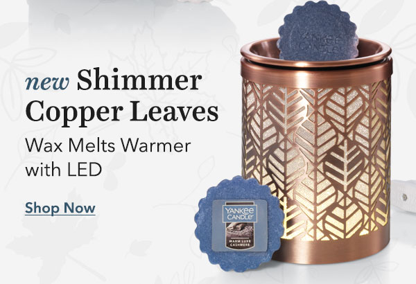 New Shimmer Copper Leaves Wax Melts Warmer with LED