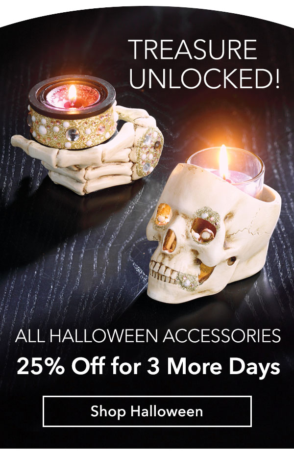 All Halloween accessories now 25% Off