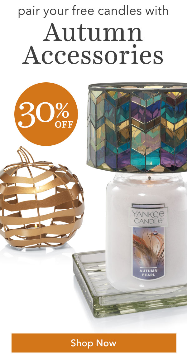 Pair Your Free Candles with Autumn Accessories