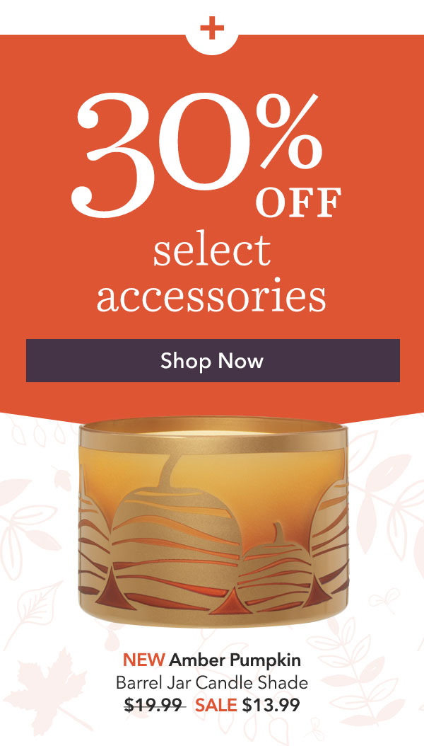 30% Off Select Jar & Tumbler Candle Accessories