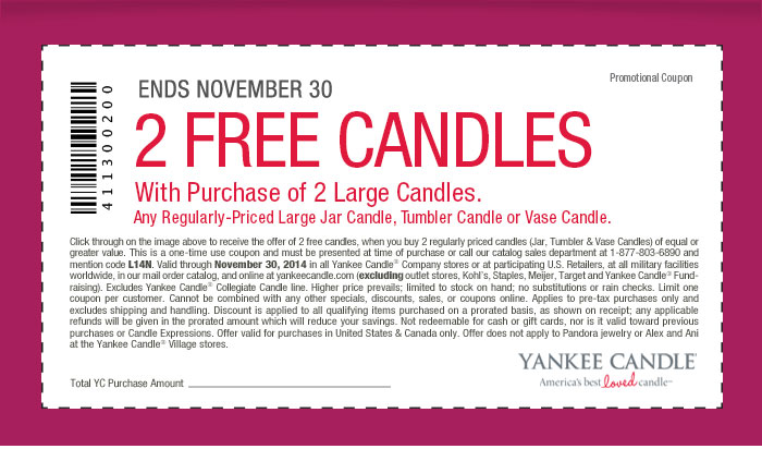 Coupon: Buy 2, Get 2 Free - All Candles